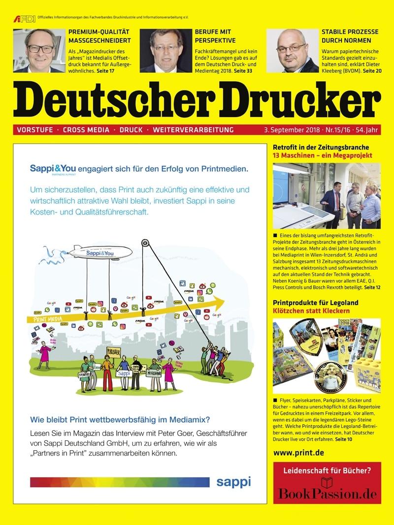 Produkt: Deutscher Drucker 15-16/2018 Digital