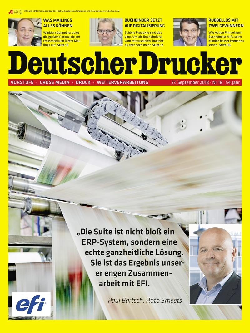 Produkt: Deutscher Drucker 18/2018 Digital