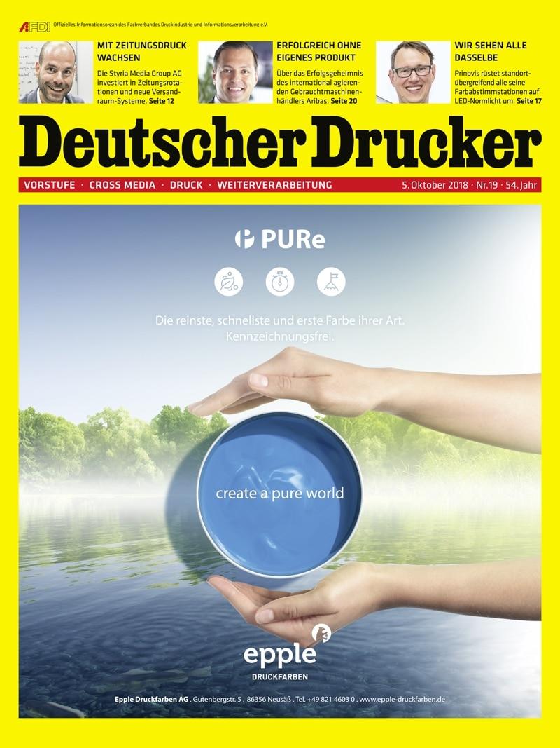 Produkt: Deutscher Drucker 19/2018 Digital