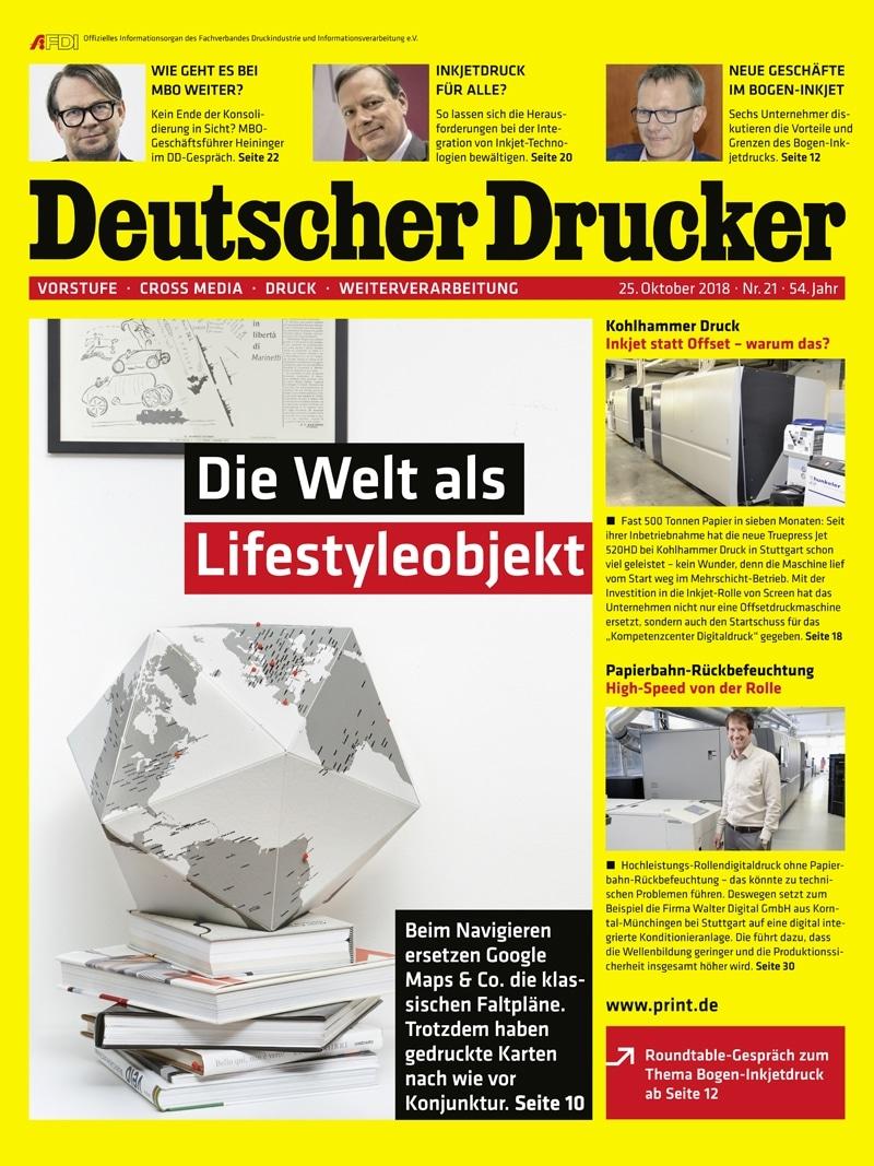 Produkt: Deutscher Drucker 21/2018 Digital