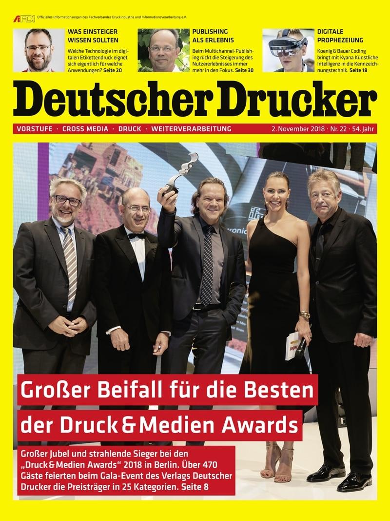 Produkt: Deutscher Drucker 22/2018 Digital