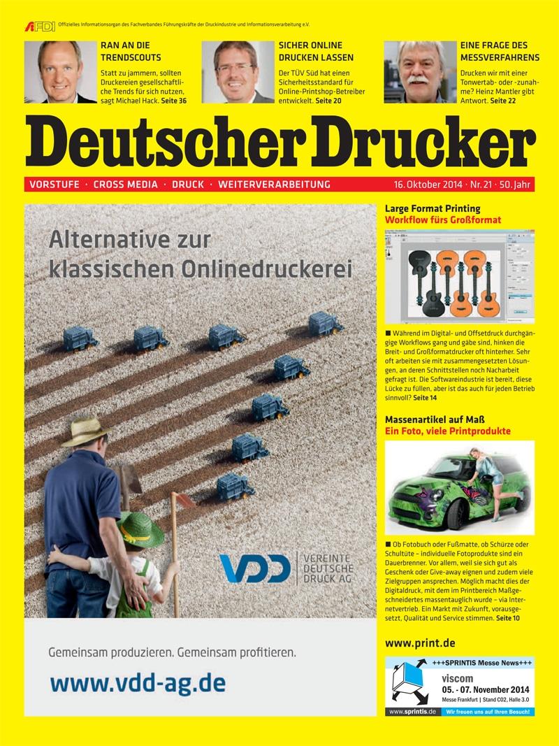 Produkt: Deutscher Drucker 21/2014 Digital