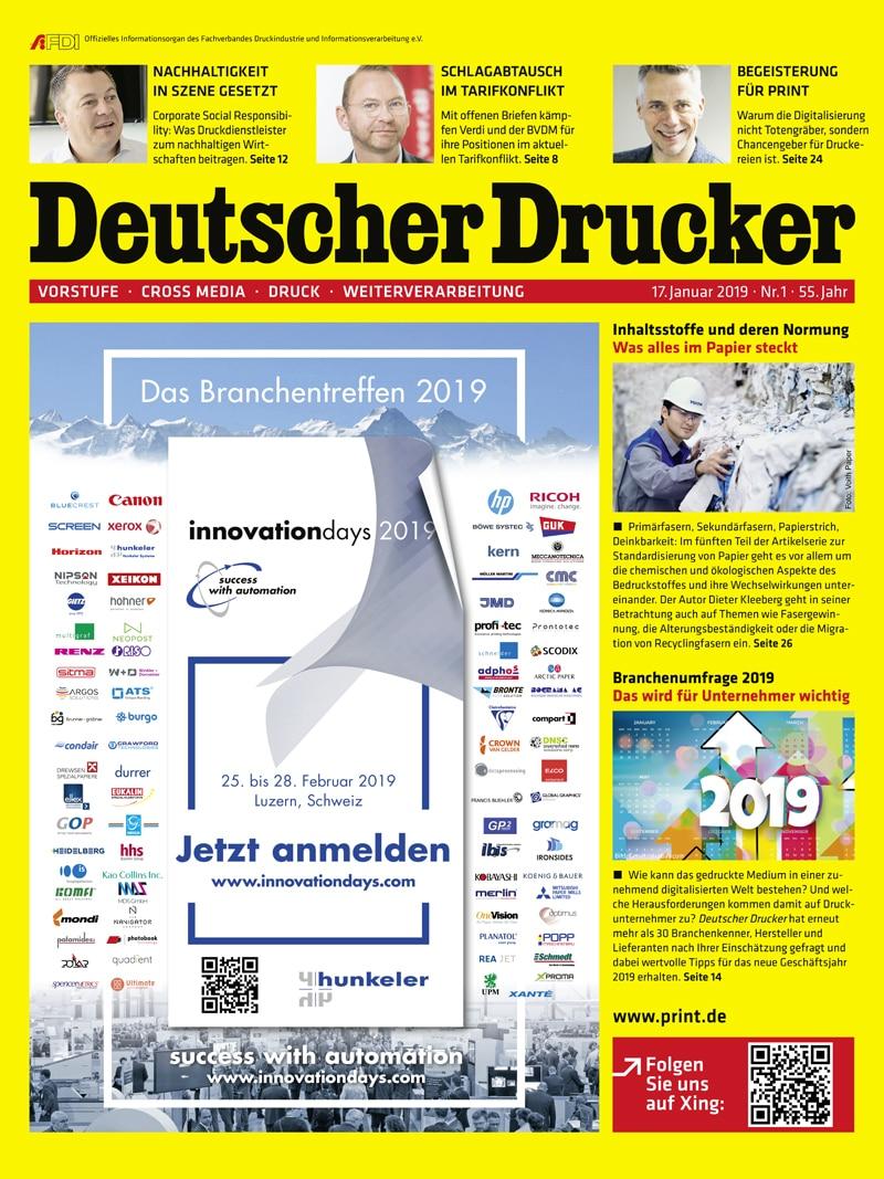 Produkt: Deutscher Drucker 1/2019 Digital