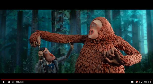 """Sir Lionel Forst und Mr. Link: die beiden Hauptprotagonisten im Stop-Motion-Animationsfilm """"Missing Link"""" haben ihre Gesichtsausdrücke von einem 3D-Drucker verliehen bekommen."""