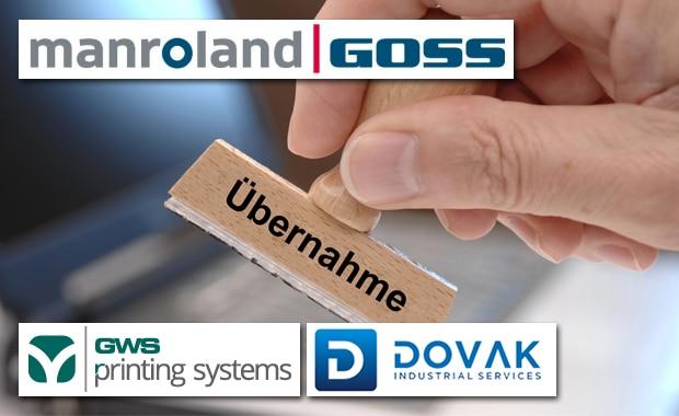 GWS Printing Systems und Dovak Industrial Services gehören künftig zur Manroland-Goss-Web-Systems-Unternehmensgruppe.