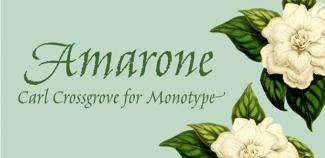 Auch die Amarone ist neu in der Monotype-Bibliothek.