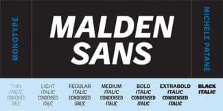 Schriften-Neuheit Nummer 3: die Malden Sans.