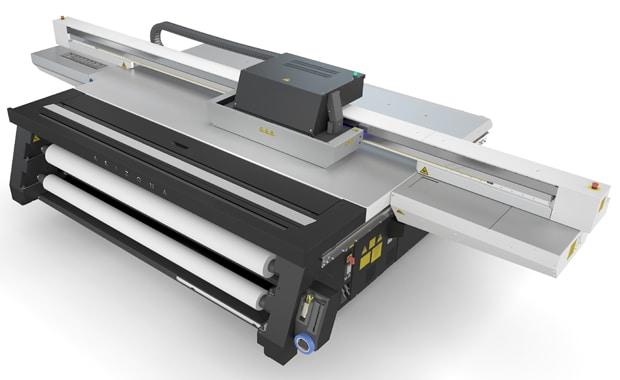 Canon hat mit der Océ Arizona 1300 eine neue Flachbettdrucker-Serie vorgestellt, die sechs Modelle umfasst. Im Bild: die Océ Arizona 1340 GT.