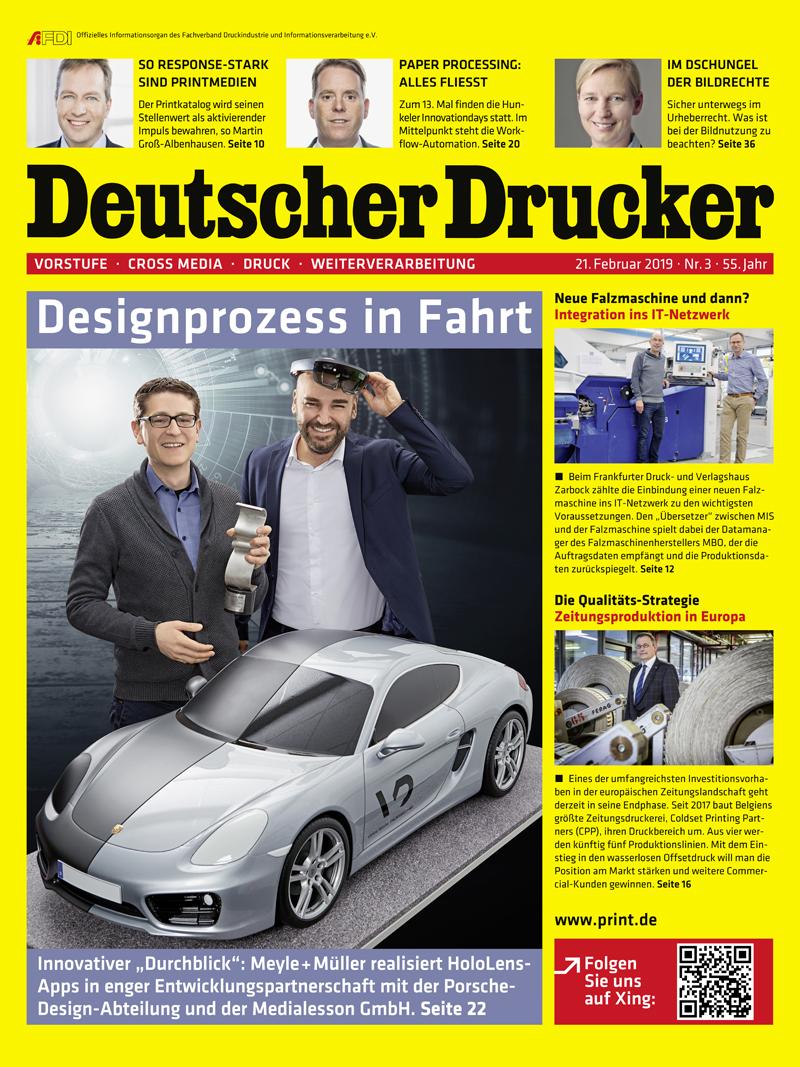 Produkt: Deutscher Drucker 3/2019 Digital