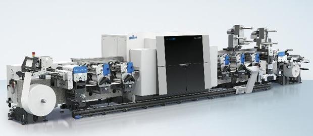 Die Gallus Labelfire E340, eine gemeinsame Entwicklung von Gallus und der Heidelberger Druckmaschinen AG ist nun auch in einer Fünffarben-Version verfügbar.