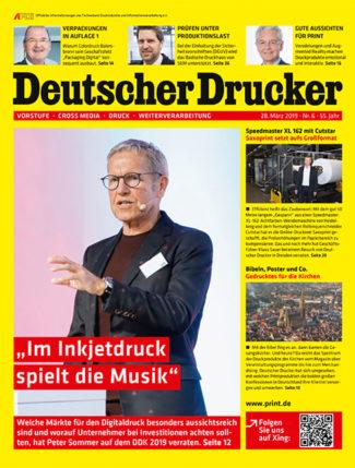 Deutscher Drucker 6/2019 beschäftigt sich mit den aussichtsreichsten Märkten im Digitaldruck.