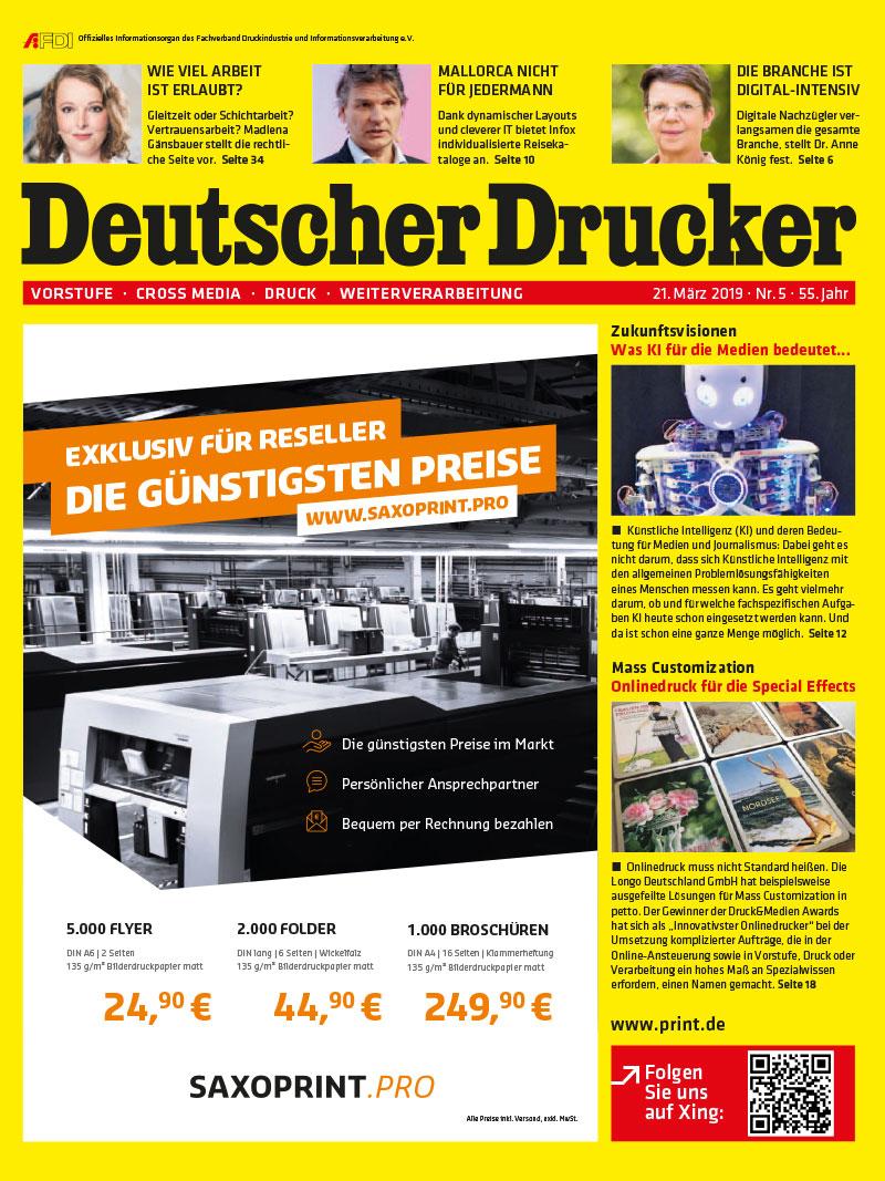 Produkt: Deutscher Drucker 5/2019 Digital
