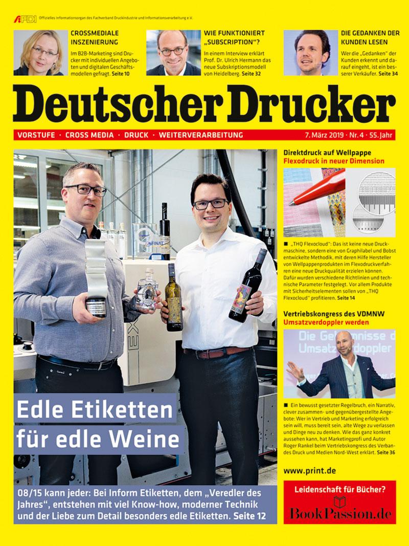 Produkt: Deutscher Drucker 4/2019 Digital