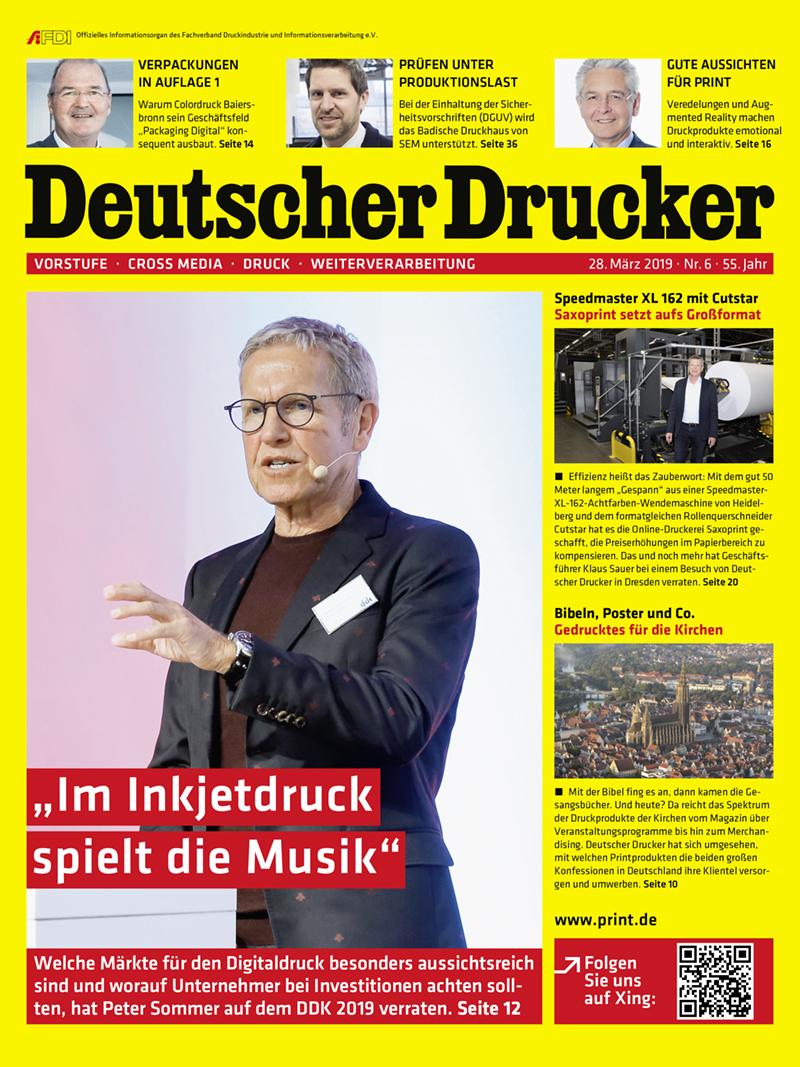 Produkt: Deutscher Drucker 6/2019 Digital