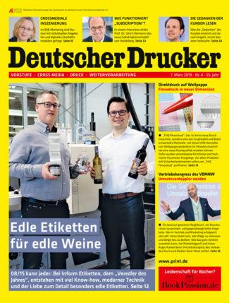 Deutscher Drucker 4/2019 ist ab sofort im print.de-Shop erhältlich.