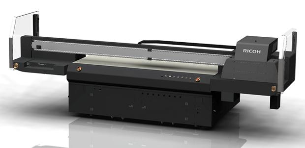 Der neue UV-Flachbettdrucker Ricoh Pro TF6250 soll sich für den Einstieg in neue Märkte eignen, wie beispielsweise den industriellen Dekorationsdruck.