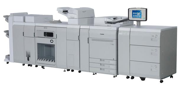 Für die drei Modelle der neuen Imagepress-C910-Serie von Canon stehen unterschiedliche Endverarbeitungsmöglichkeiten zur Verfügung.