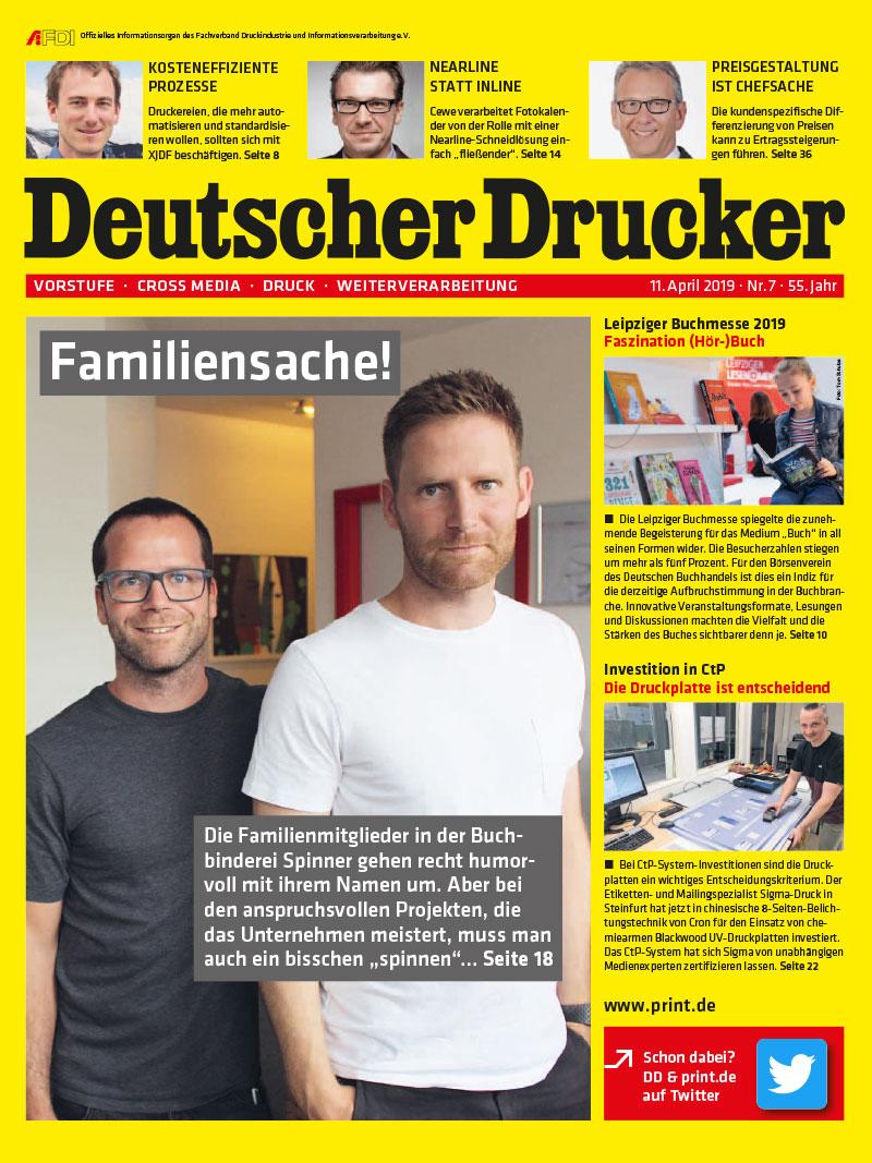 Produkt: Deutscher Drucker 7/2019 Digital