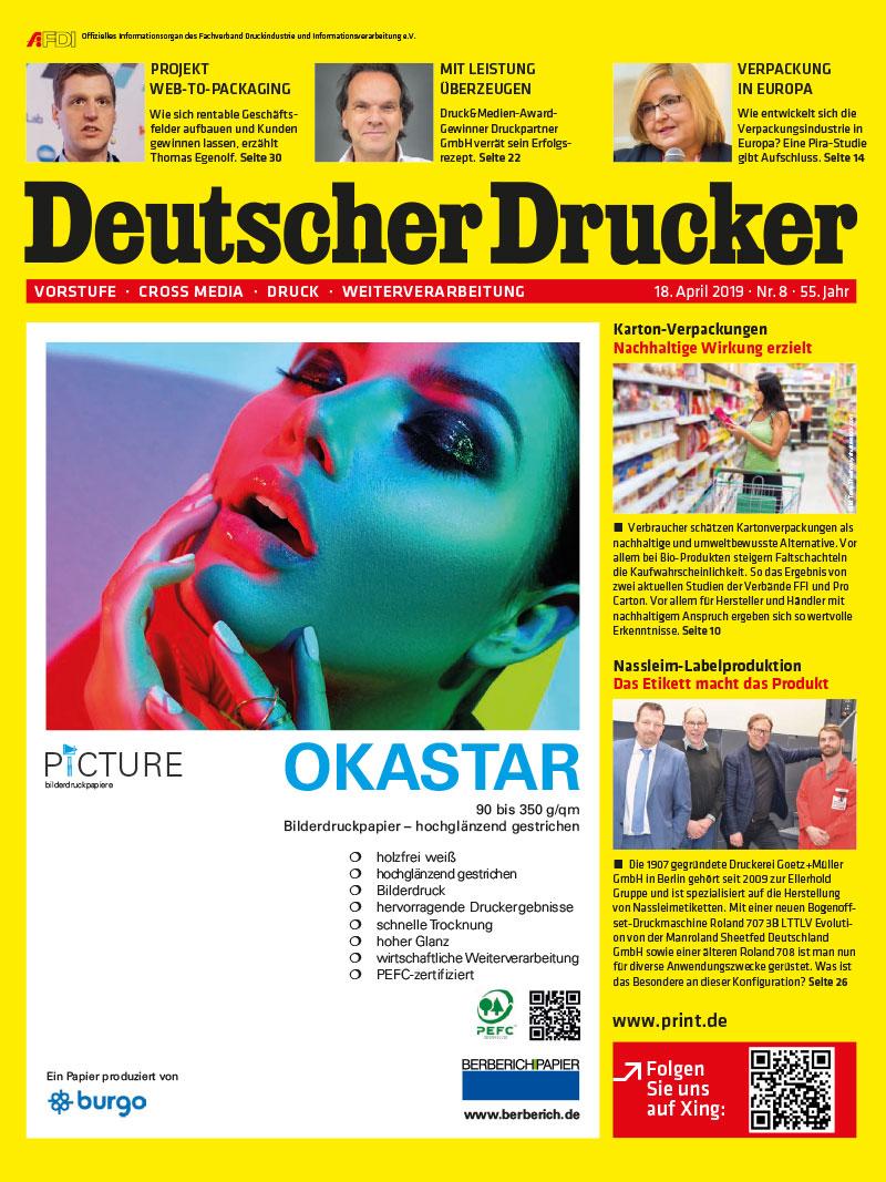 Produkt: Deutscher Drucker 8/2019 Digital