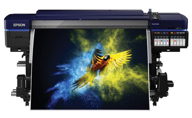 Epson zeigt auf der Fespa 2019, was mit moderner Inkjettechnologie möglich ist. Im Bild: der Surecolor SC-S80600.