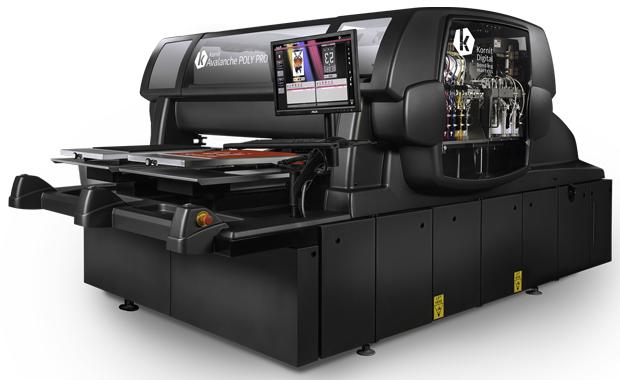 Das neue Neo-Poly-Verfahren von Kornit Digital kommt unter anderem in der neuen Avalanche Poly Pro des Herstellers zum Einsatz.