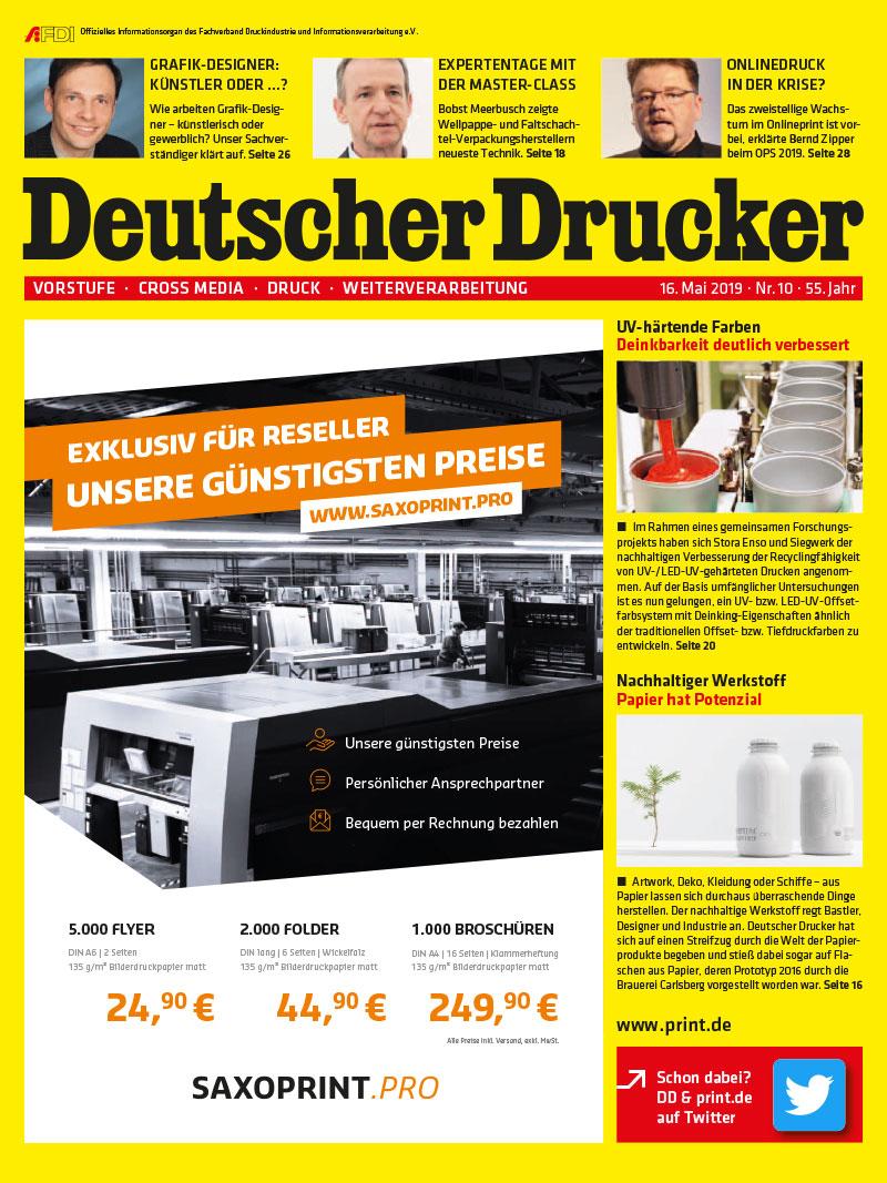 Produkt: Deutscher Drucker 10/2019 Digital