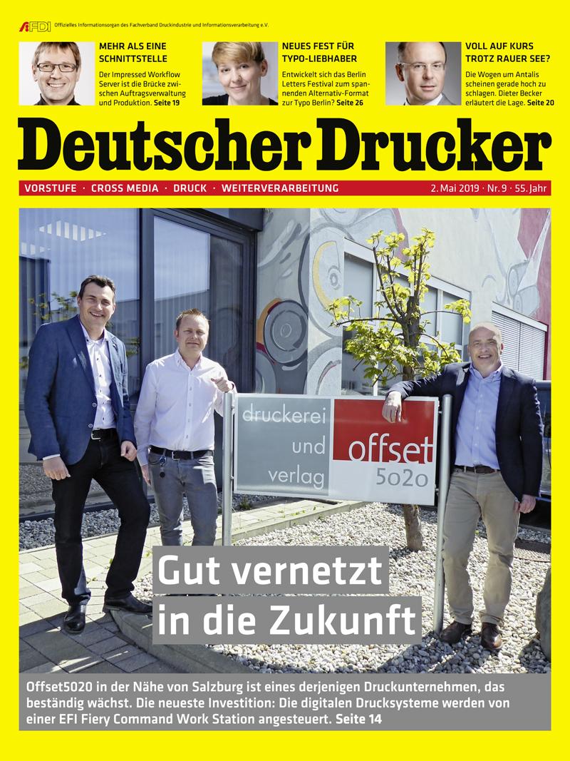 Produkt: Deutscher Drucker 9/2019 Digital