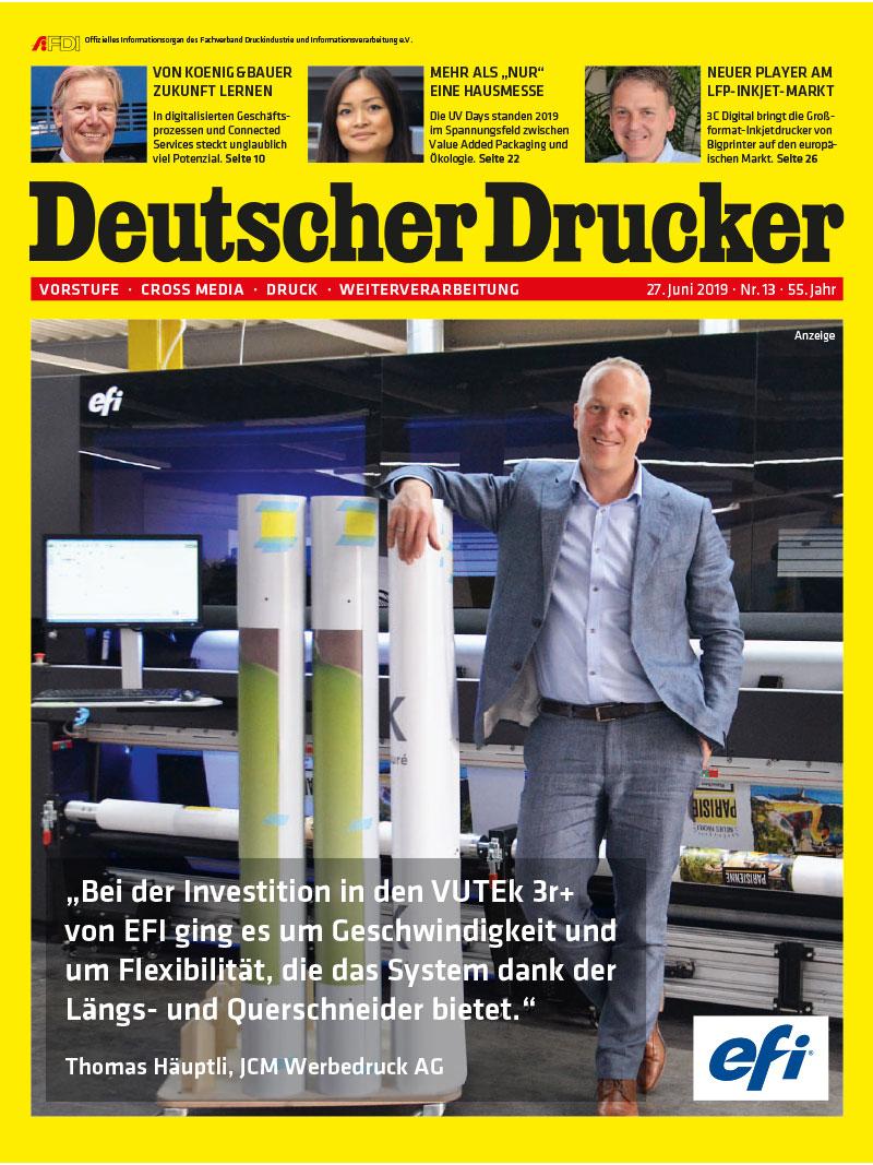 Produkt: Deutscher Drucker 13/2019 Digital