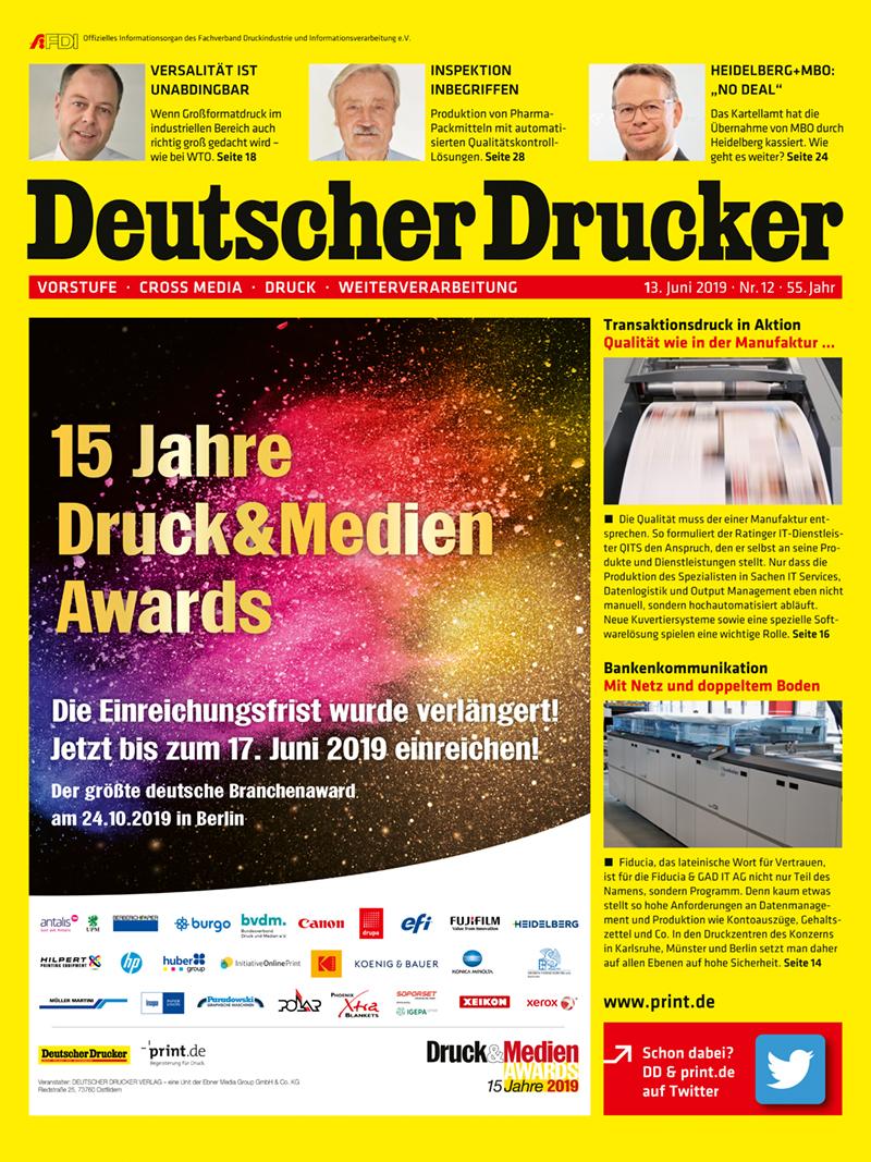 Produkt: Deutscher Drucker 12/2019 Digital