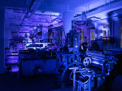 Eindrucksvoll: der illuminierte Drucksaal. Bild: Klaus-D. Sonntag