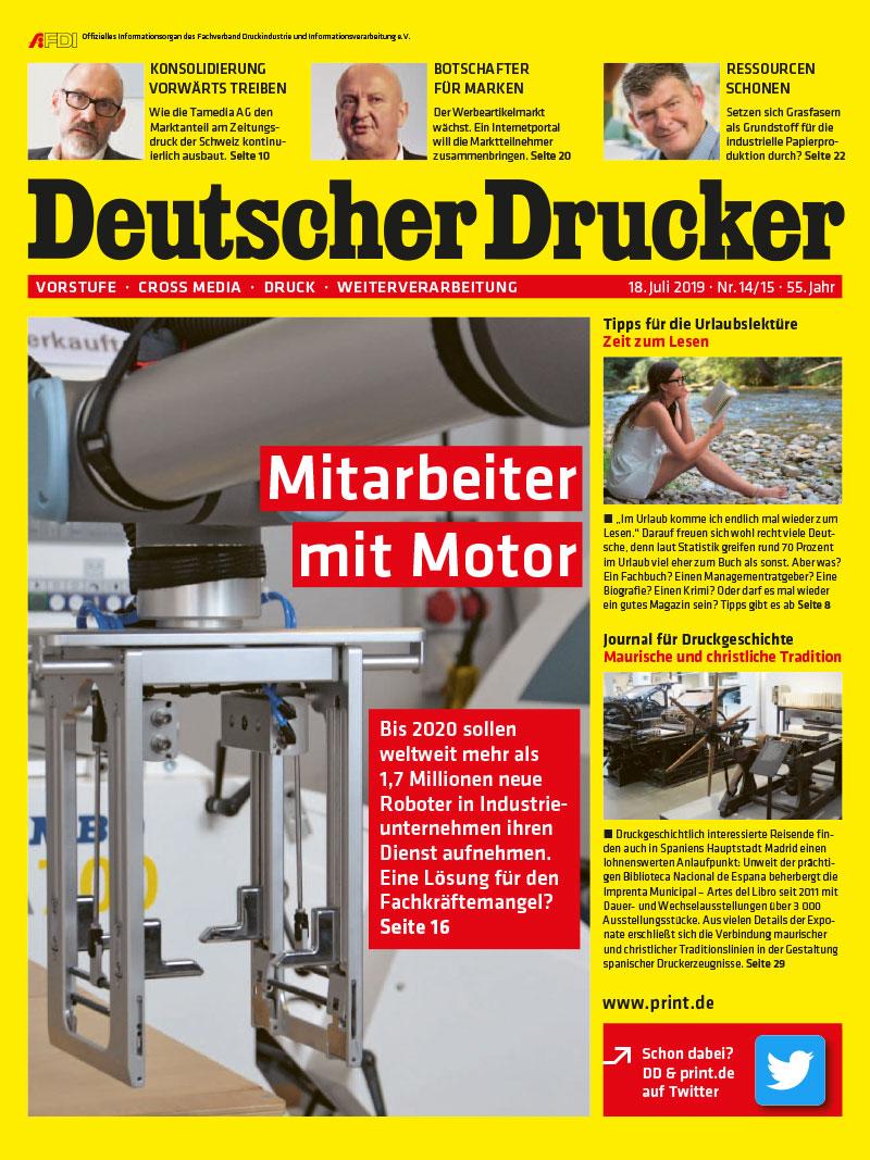Produkt: Deutscher Drucker 14-15/2019 Digital