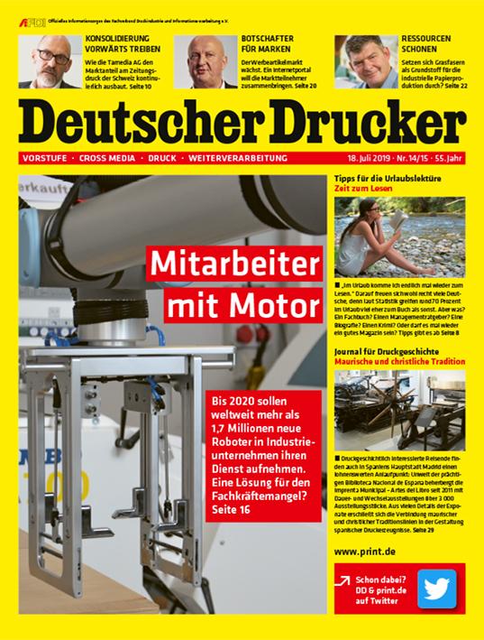 Titelseite Deutscher Drucker 14-15/2019