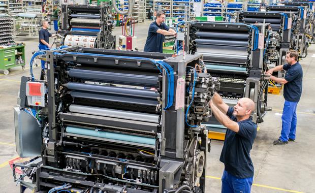 Heidelberger Druckmaschinen AG: Montage im Werk Wiesloch