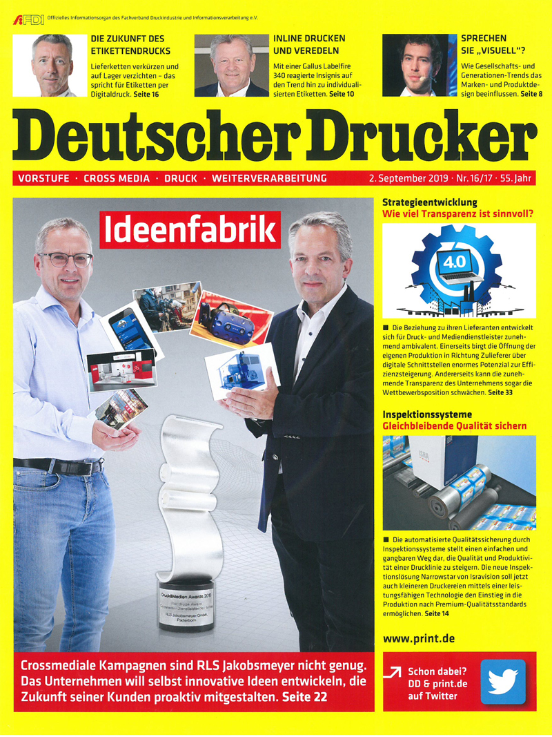 Produkt: Deutscher Drucker 16-17/2019 Digital