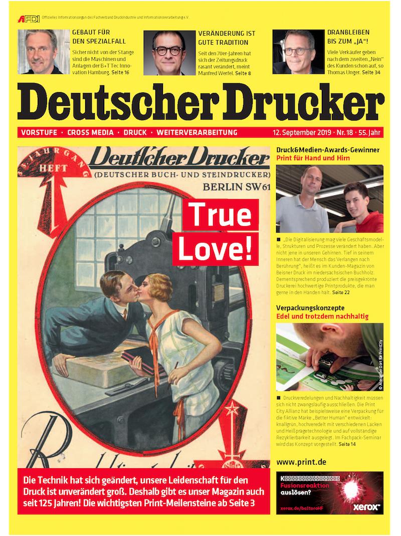 Produkt: Deutscher Drucker 18/2019 Digital