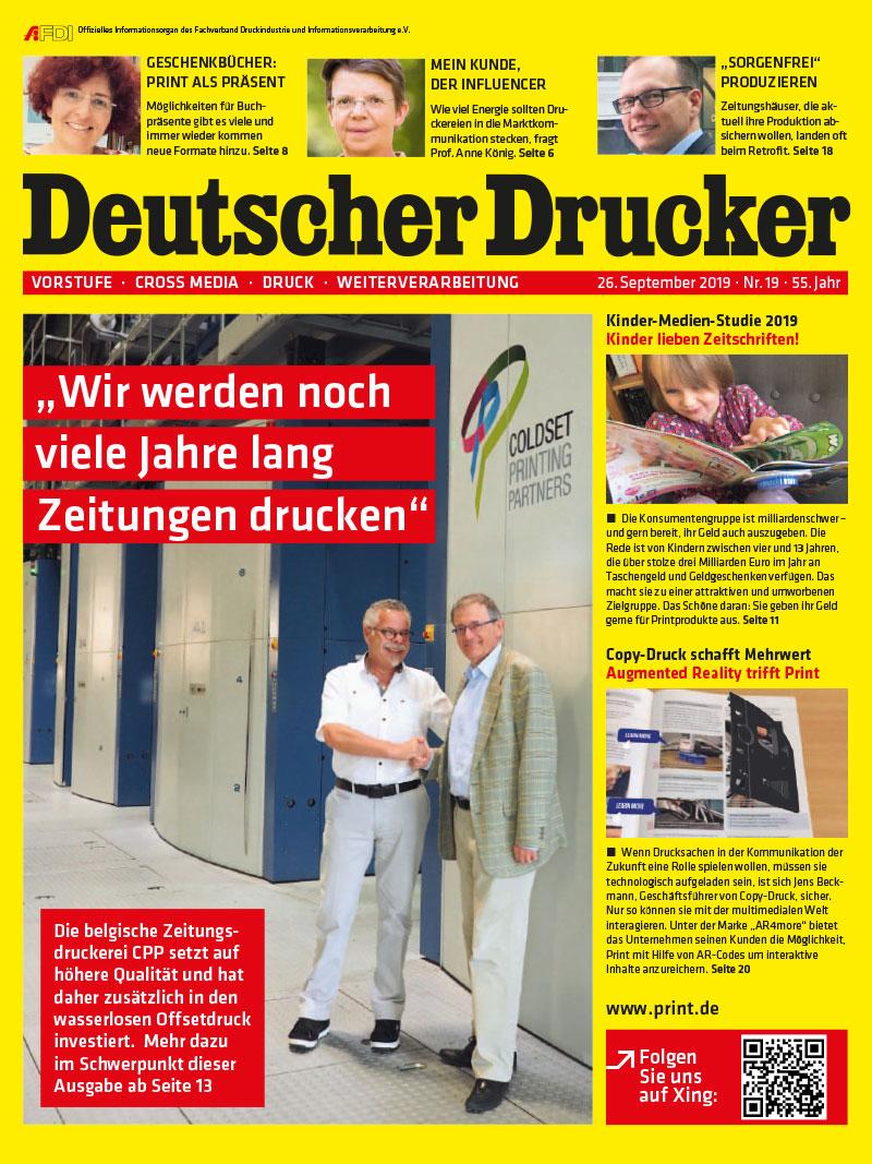 Produkt: Deutscher Drucker 19/2019 Digital