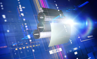 Druckplatten: Die neue Agfa Eclipse ist eine prozessfreie CtP-Druckplatte, bei der die Plattenbeschichtung laut Hersteller auf die ersten gedruckten Bogen statt auf die Druckmaschine transferiert wird.