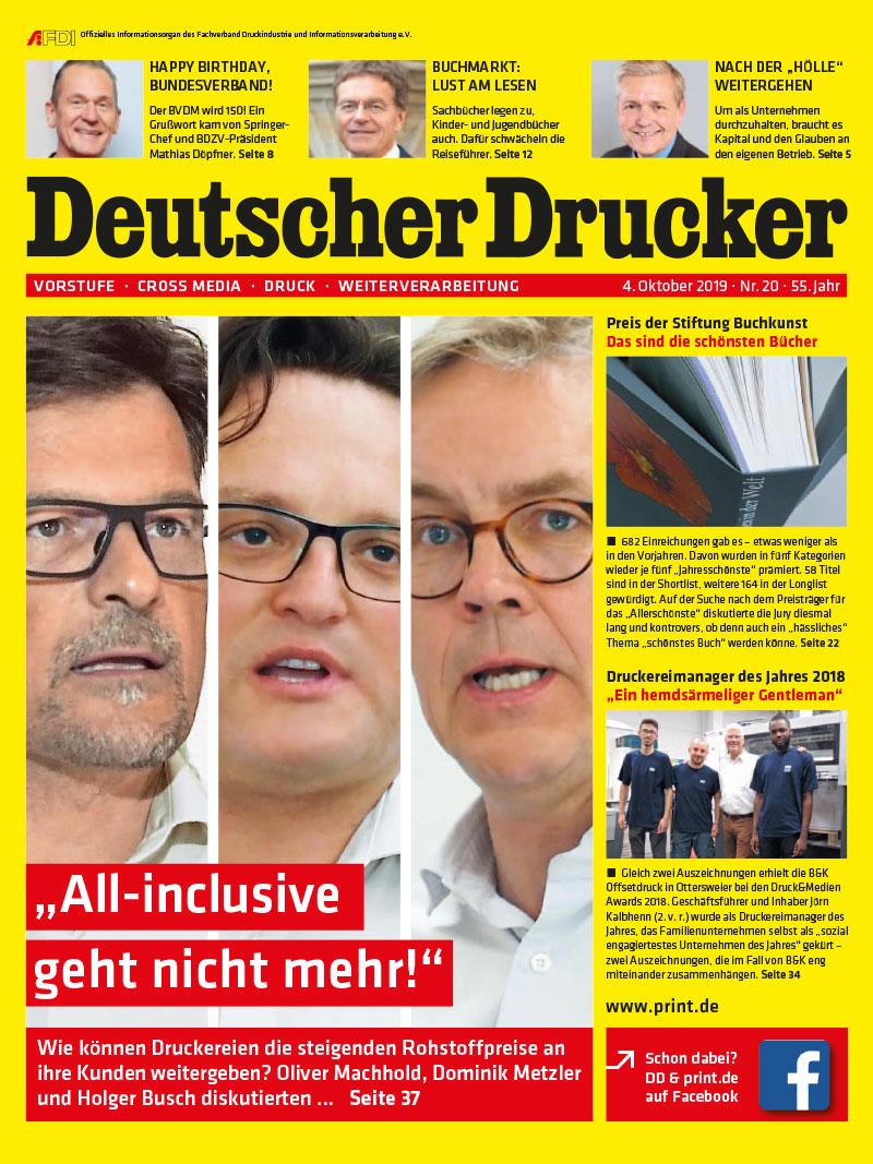 Produkt: Deutscher Drucker 20/2019 Digital