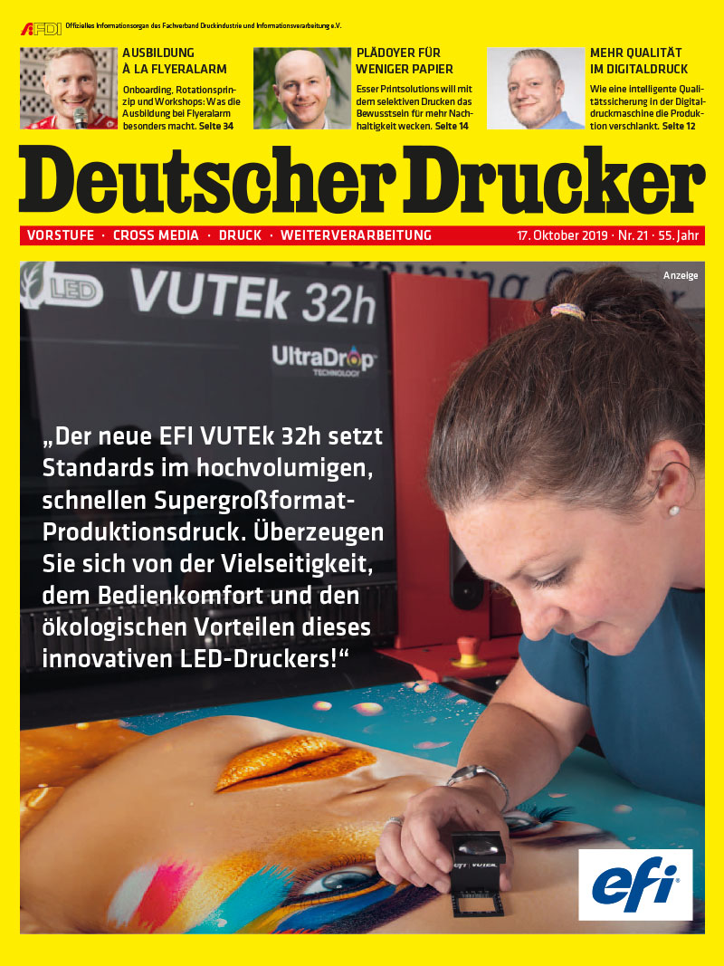 Produkt: Deutscher Drucker 21/2019 Digital