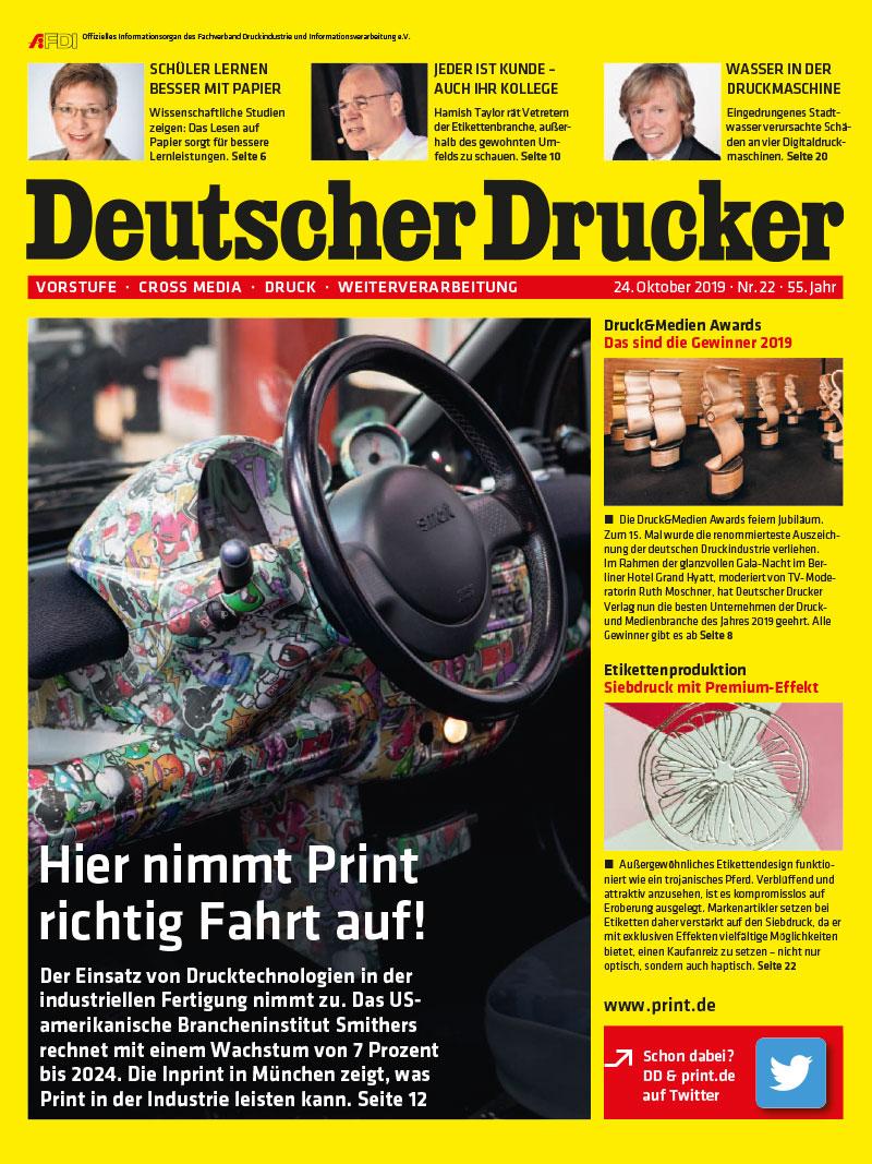 Produkt: Deutscher Drucker 22/2019 Digital