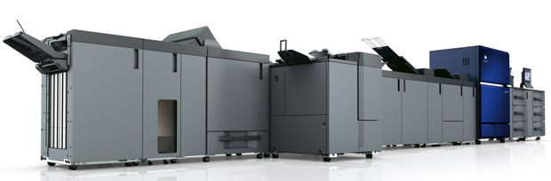 Konica Minolta Digitaldruck Tonerdruck Accuriopress C14000 Bogendrucksystem 1