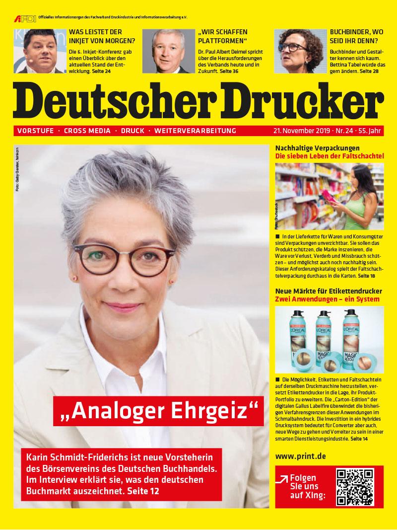 Produkt: Deutscher Drucker 24/2019 Digital