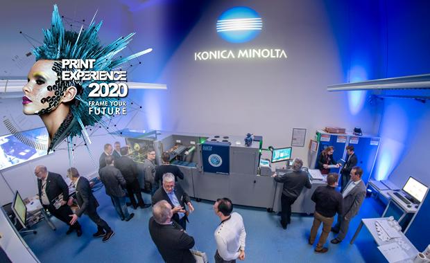 Konica Minolta lädt zur Print Experience 2020 ein Digitaldruck Inkjet Druckveredelung MGI Verpackungsdruck