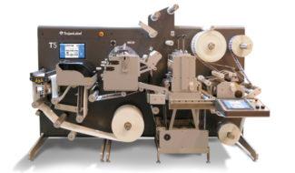 Trojanlabel T5 Digitaler Etikettendruck Inline-Finishing Digitaldruck Inkjet Narrow Web Schmalbahndruck