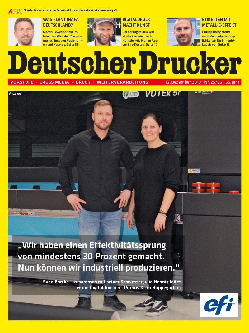 Produkt: Deutscher Drucker 25-26/2019 Digital