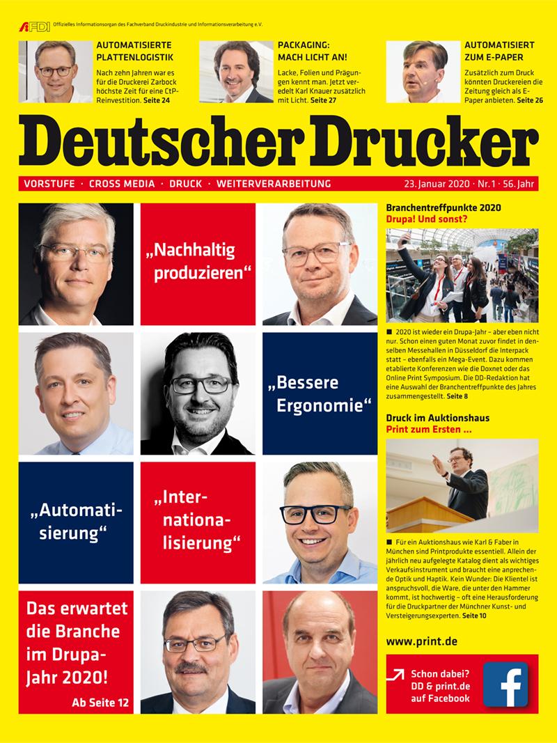 Produkt: Deutscher Drucker 1/2020 Digital