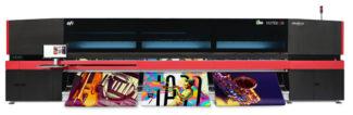 EFI stellt neue Mid-Range-Drucker Vutek D3r und Vutek D5r vor Großformatdruck Large Format Printing Inkjet Digitaldruck Rollendruck