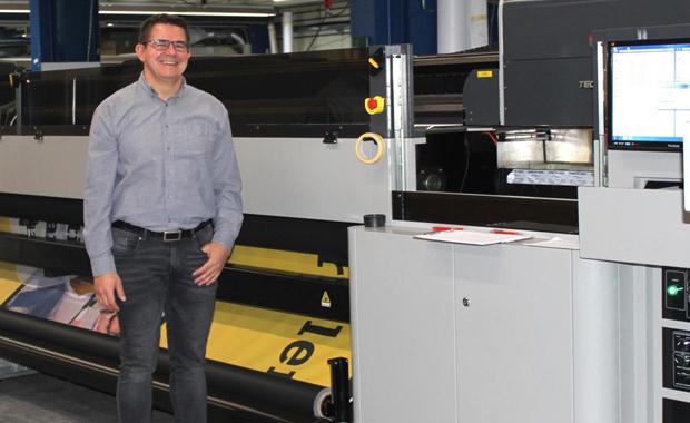 Stiefel Digitalprint investiert in Großformatdruck-System Teckwin Shark 5000 LED Digitaldruck Inkjet Großformatdruck