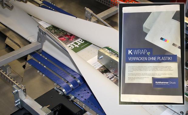 Kohlhammer hat in einer Papierverpackungsanlage investiert K-Wrap Digitaldruck Individualisierung Inkjetdruck Papier statt Plastik