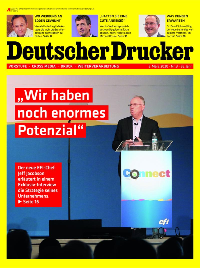 Produkt: Deutscher Drucker 3/2020 Digital